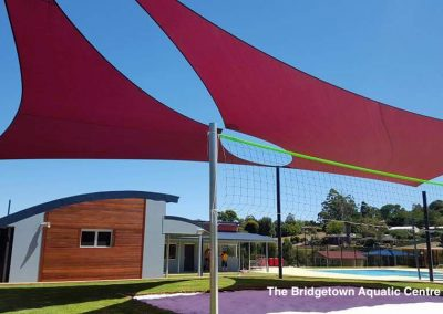 Bridgetown Aquatic Centre shade sails